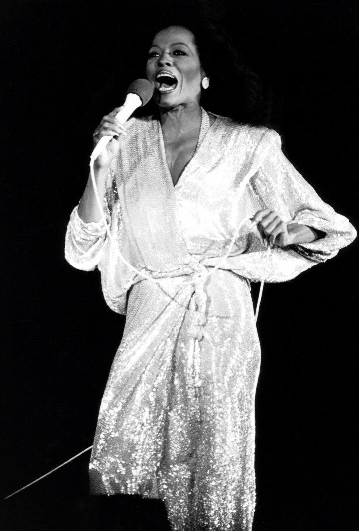 Diana Ross in concert...