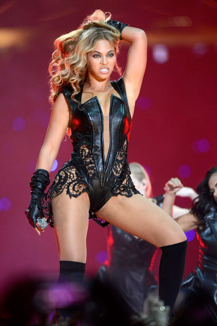 Beyoncé Performing At The Pepsi Super Bowl XLVII Halftime Show In 2013