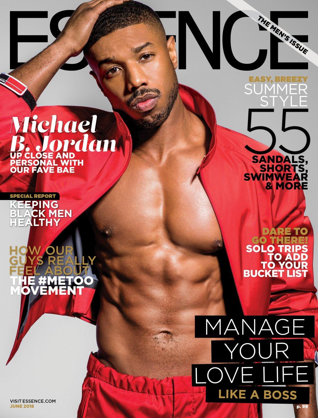 Michael B Jordan Essence Cover