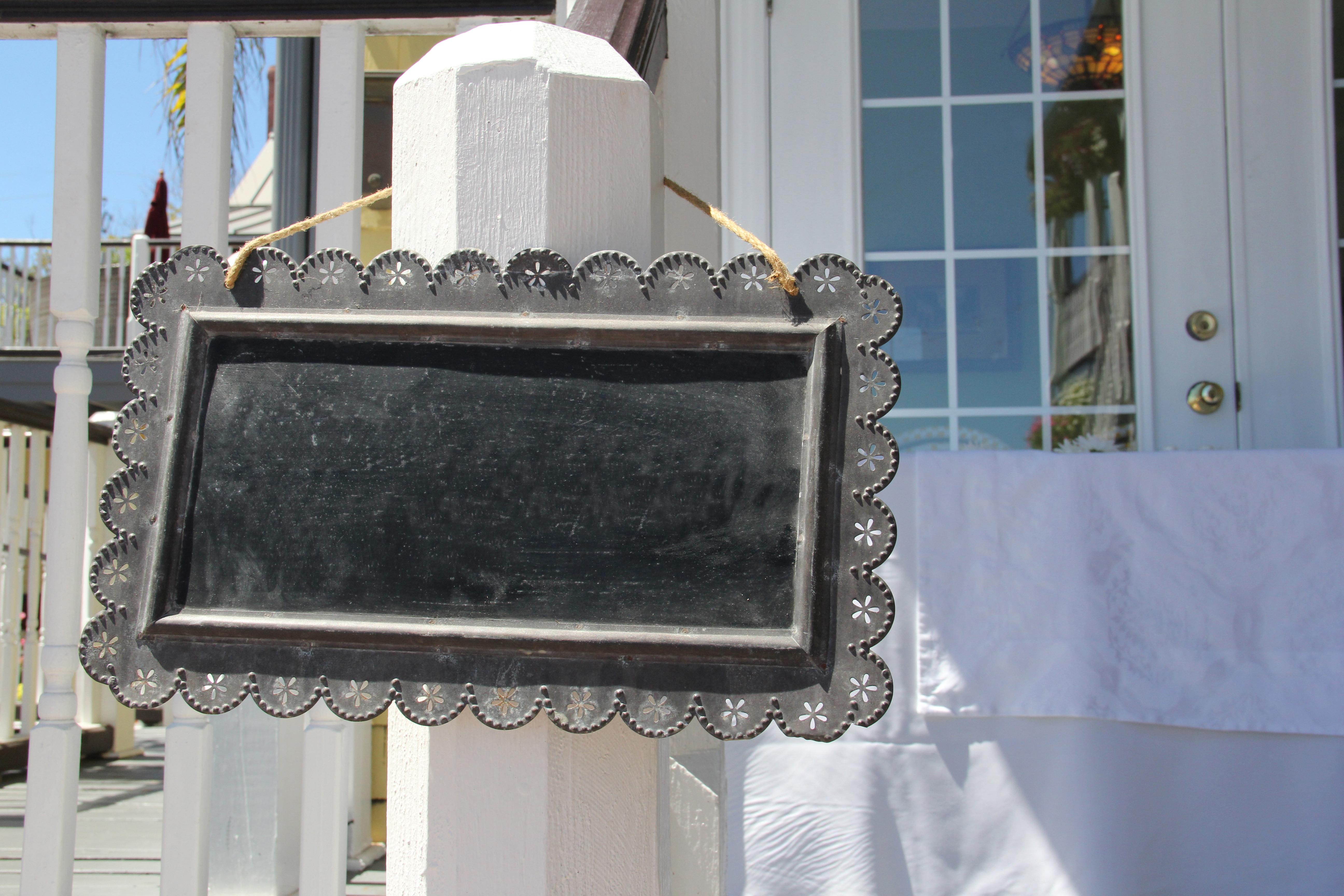 Framed blackboard placard sign