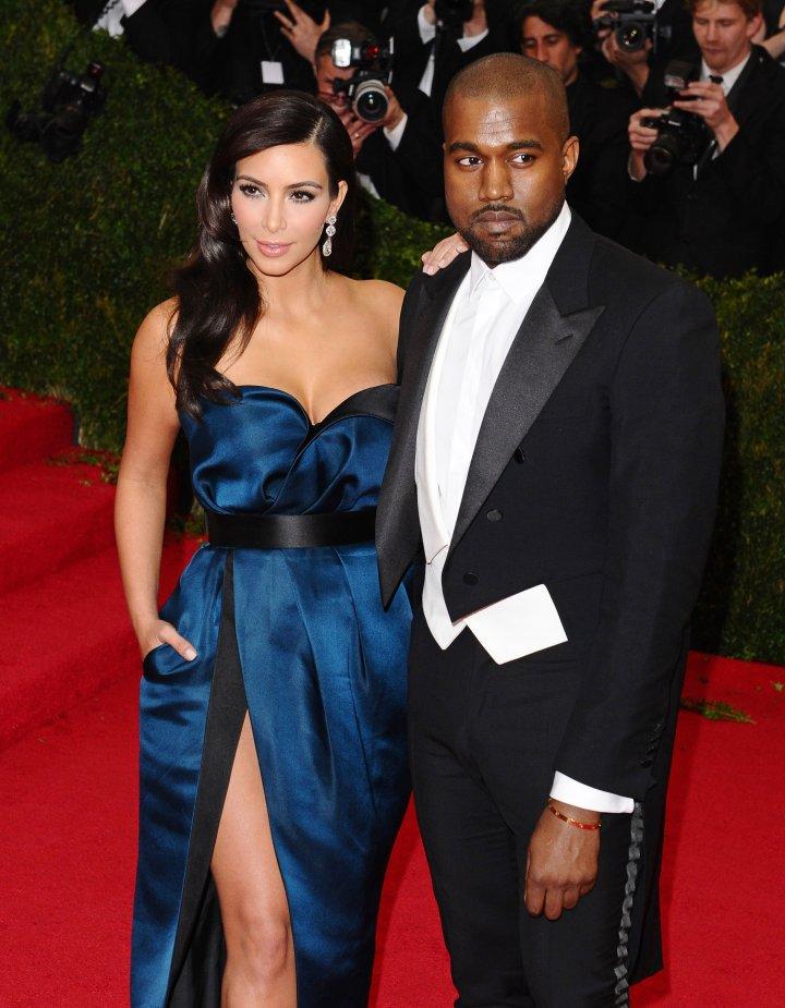 Kim Kardashian and Kanye West in Lanvin