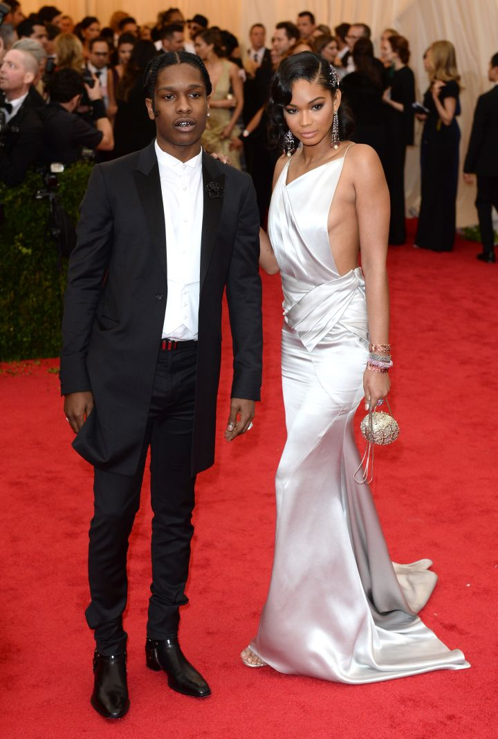 Chanel Iman and ASAP Rocky in Topshop/Topman
