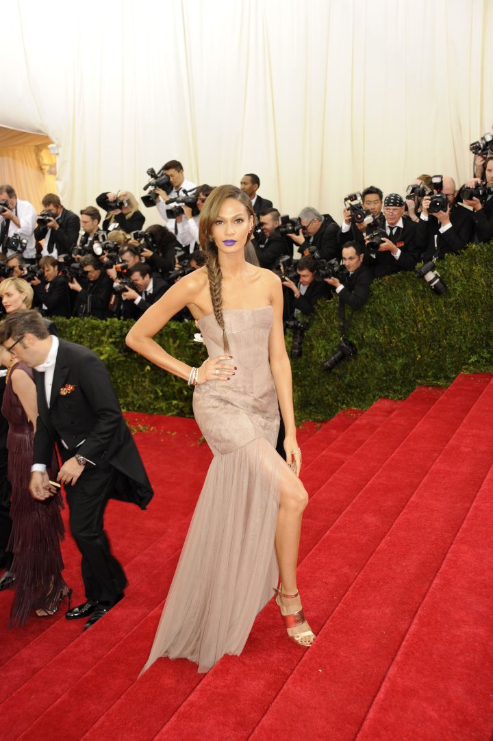 Joan Smalls in Vera Wang