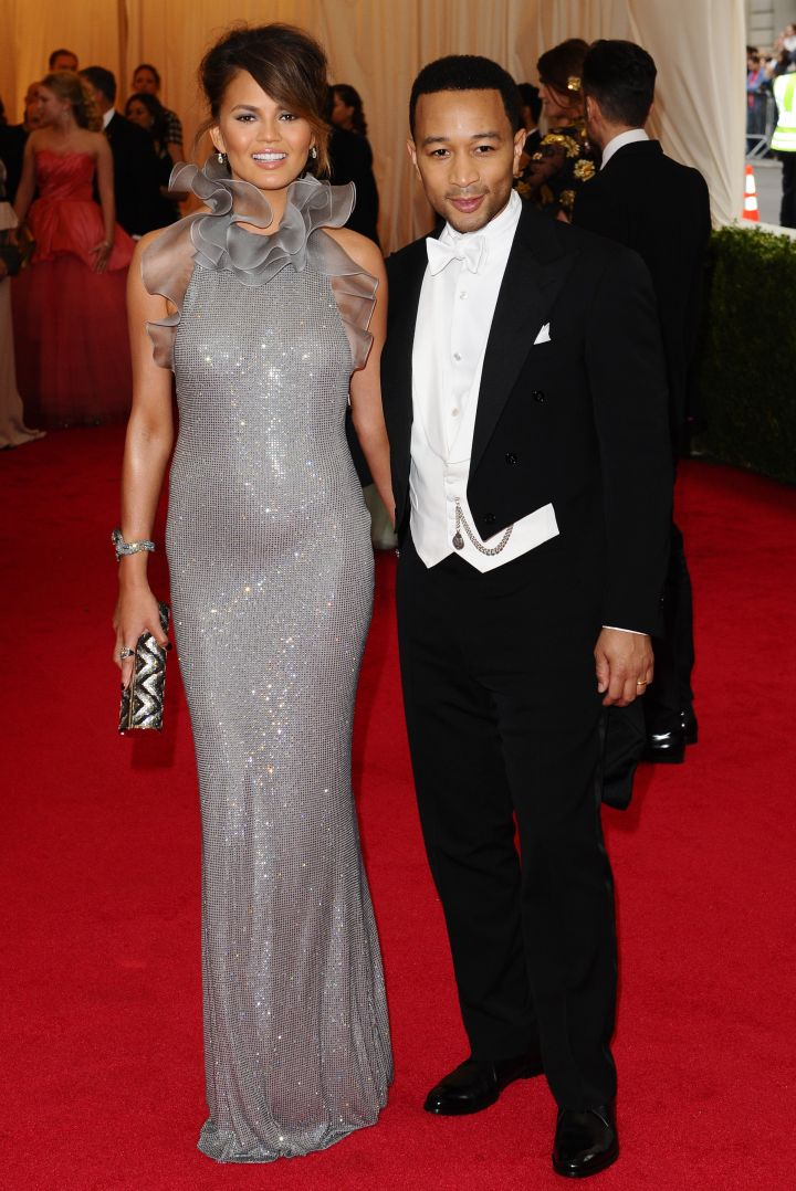Chrissy Teigen and John Legend in Ralph Lauren