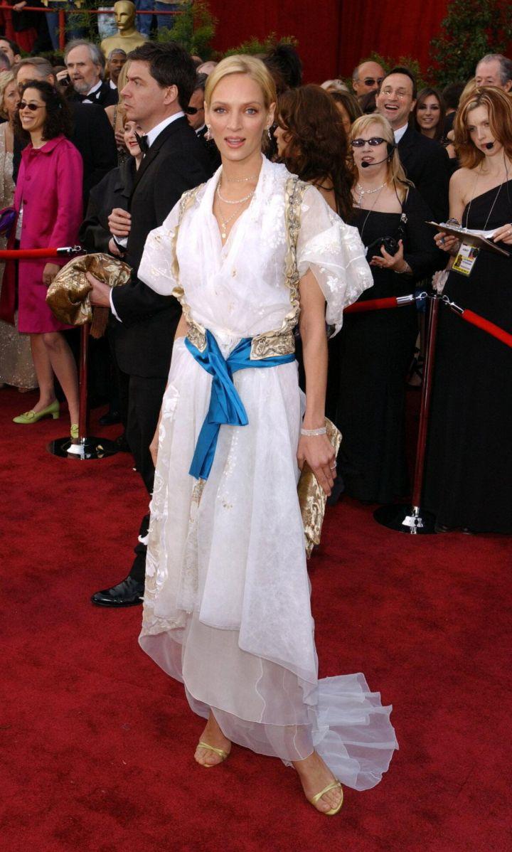 Uma Thurman at The Oscars in 2004