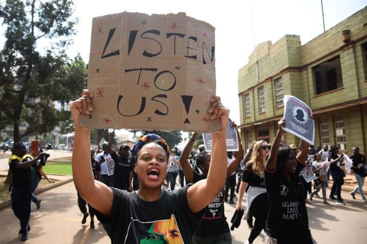 UGANDA-PROTEST-WOMEN