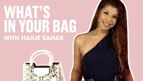 Hailie Sahar What's In Her Bag