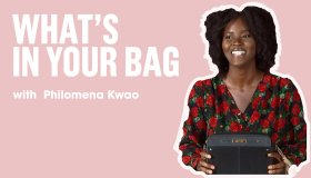 Philomena Kwao what's in your bag