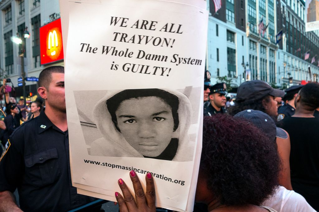 USA - Protest Against Zimmerman Trial Verdict in New York