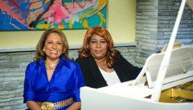 Cathy Hughes and Aretha Franklin