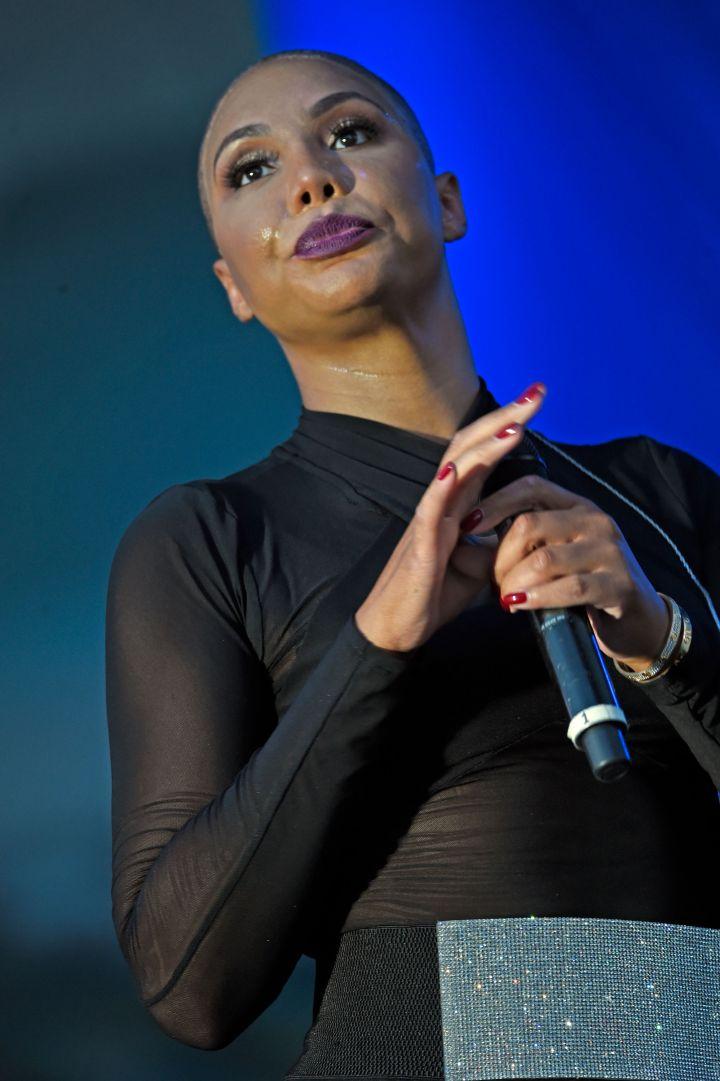 Tamar Braxton Debuts Bald Look