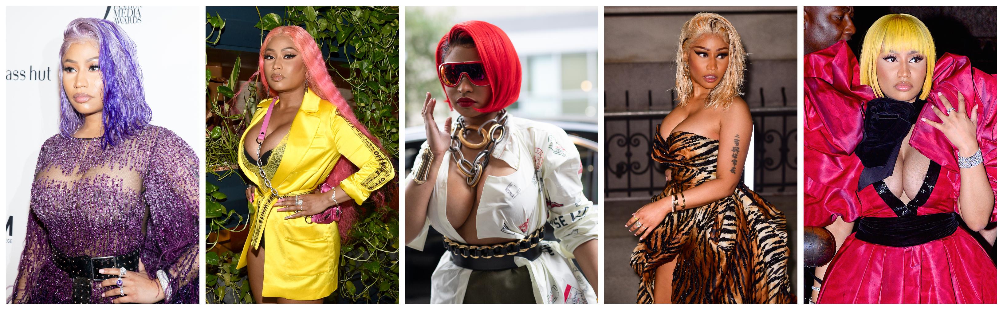 Nicki Minaj NYFW Hairstyles Collage (5)