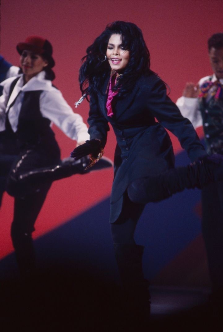 Janet Jackson Performing On The 17th American Music Award