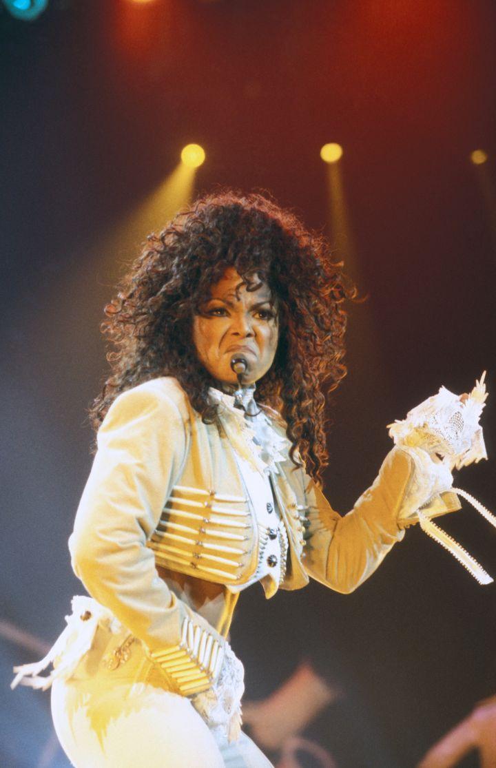 Janet Jackson en concert en 1995
