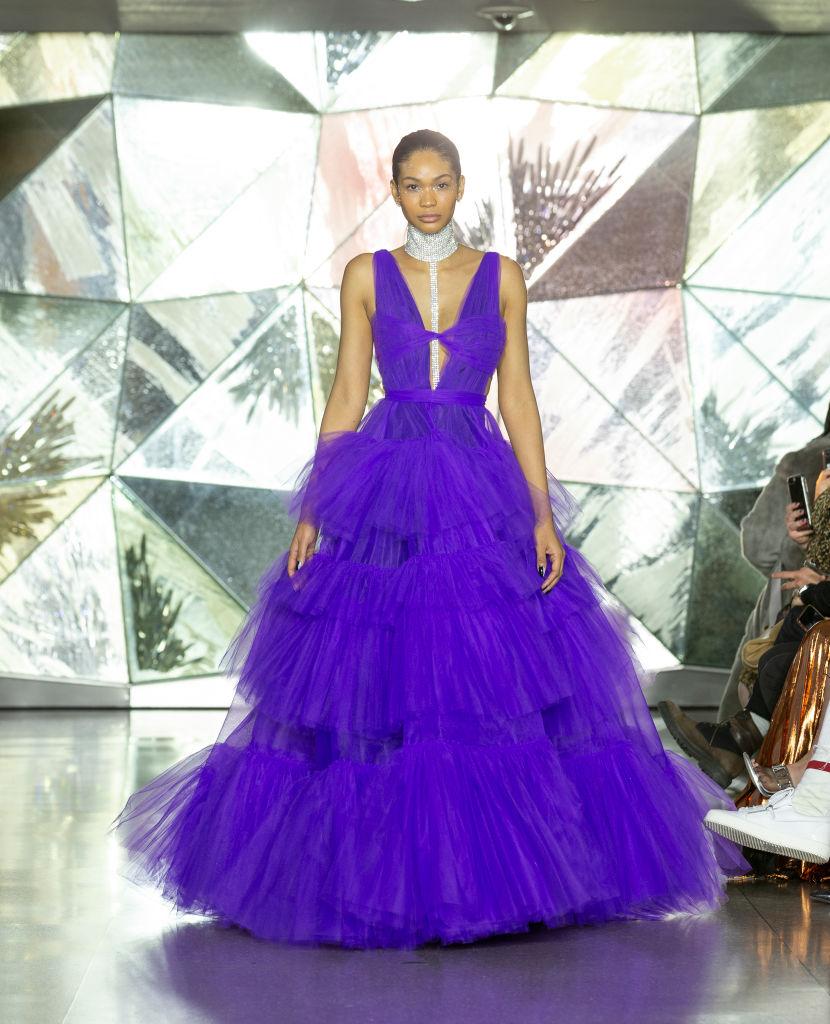 Model Chanel Iman walks runway for Christian Siriano New...