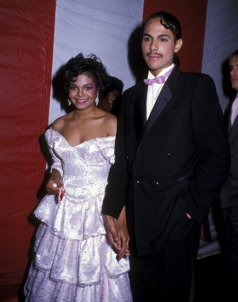 James DeBarge with then wife Janet Jackson