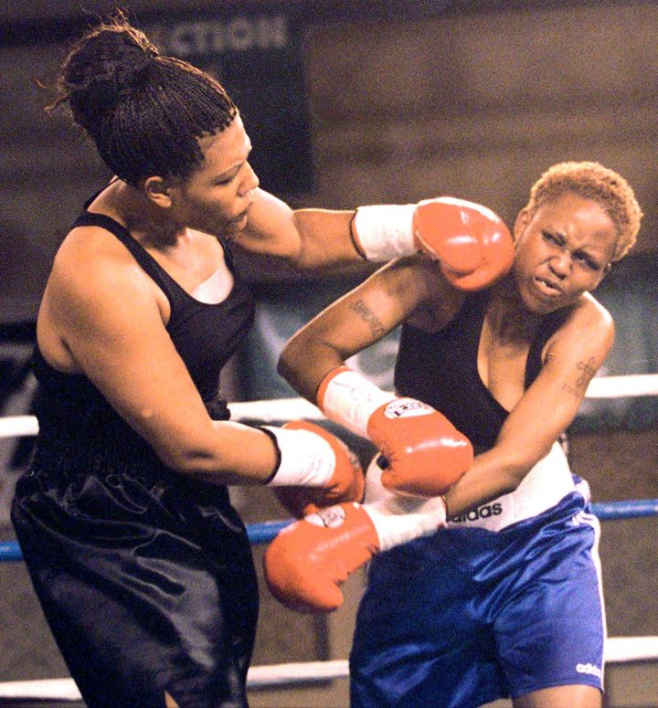 Freeda Foreman (L), daughter of former boxing cham