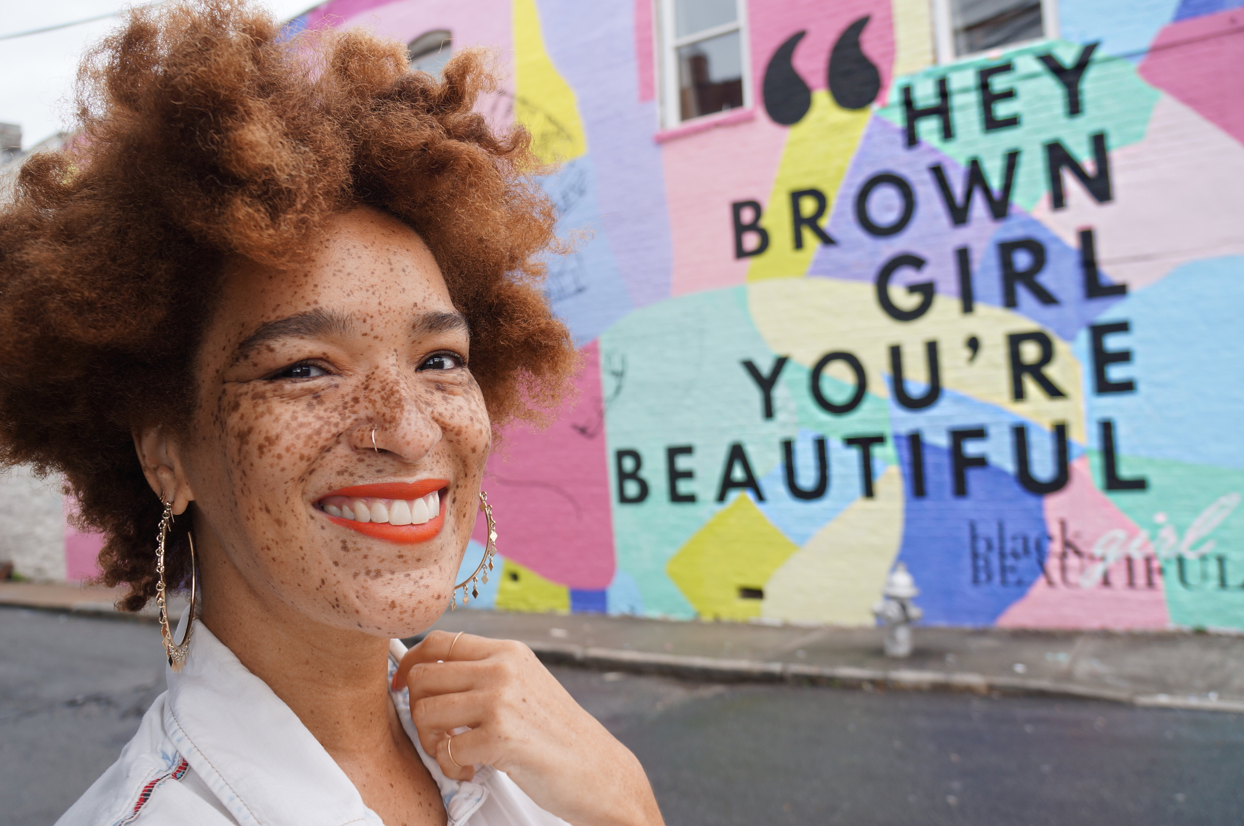Hey Brown Girl You're Beautiful mural