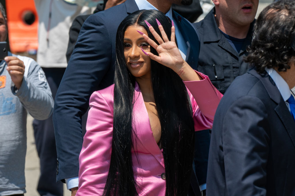 Cardi B Arrives At Court For First Day Of Trial Addressing Misdemeanor Assault Charge