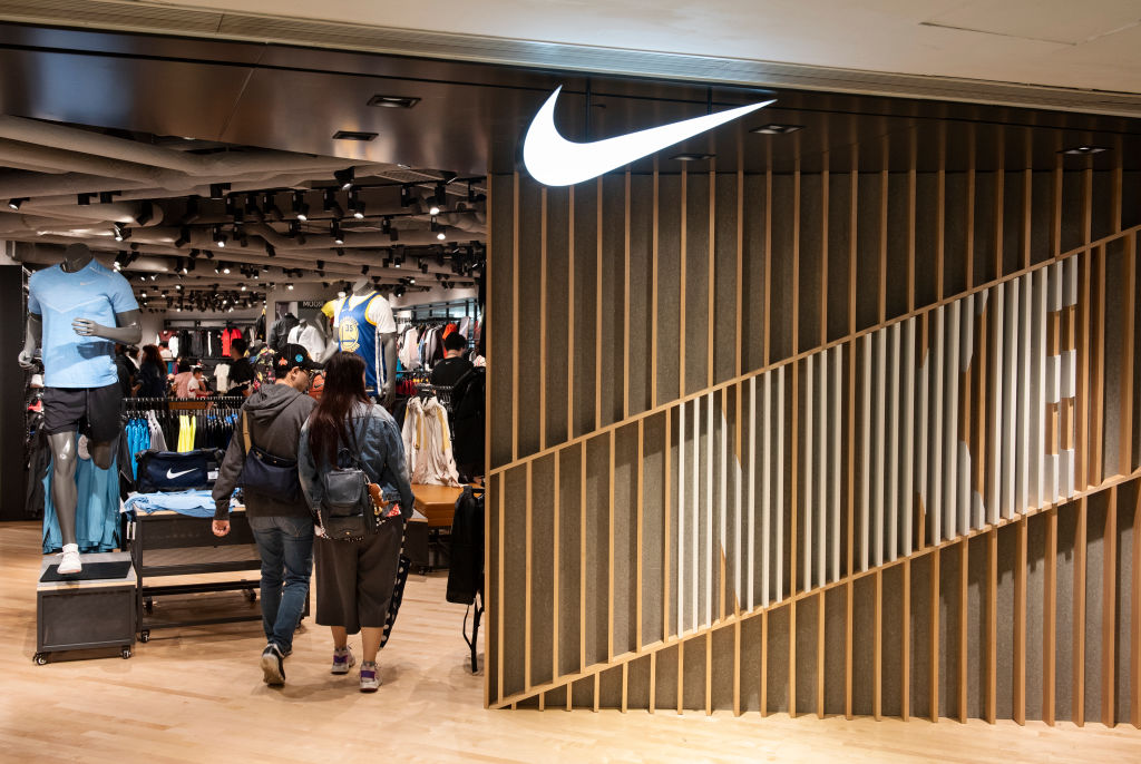 American multinational sport clothing brand Nike store seen...