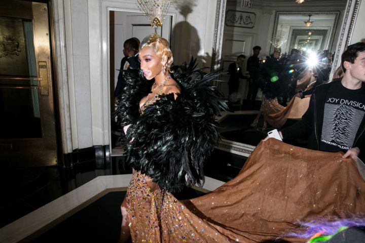 Celebrities Depart The Carlyle Hotel For The Met Gala
