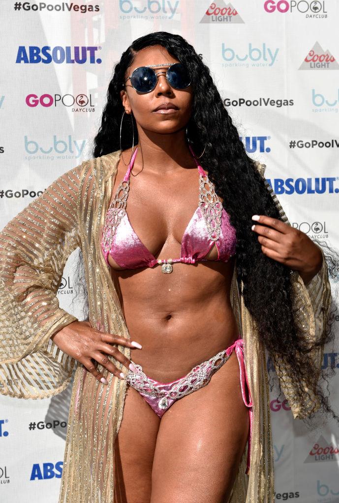 Ashanti Performs At The Flamingo Go Pool In Las Vegas