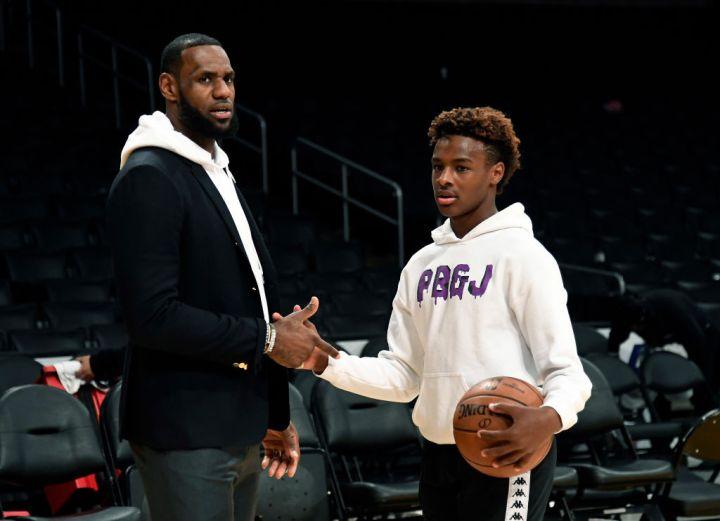Lebron James and LeBron Raymone James Jr.