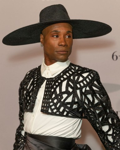 Billy Porter wearing dress by Francis Libiran attends FX...