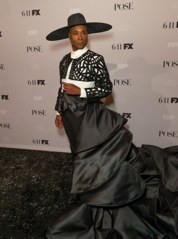 Billy Porter wearing dress by Francis Libiran attends FX...