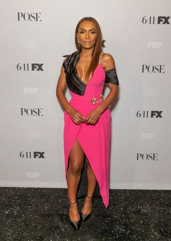Janet Mock wearing dress by Prada attends FX POSE Season 2...