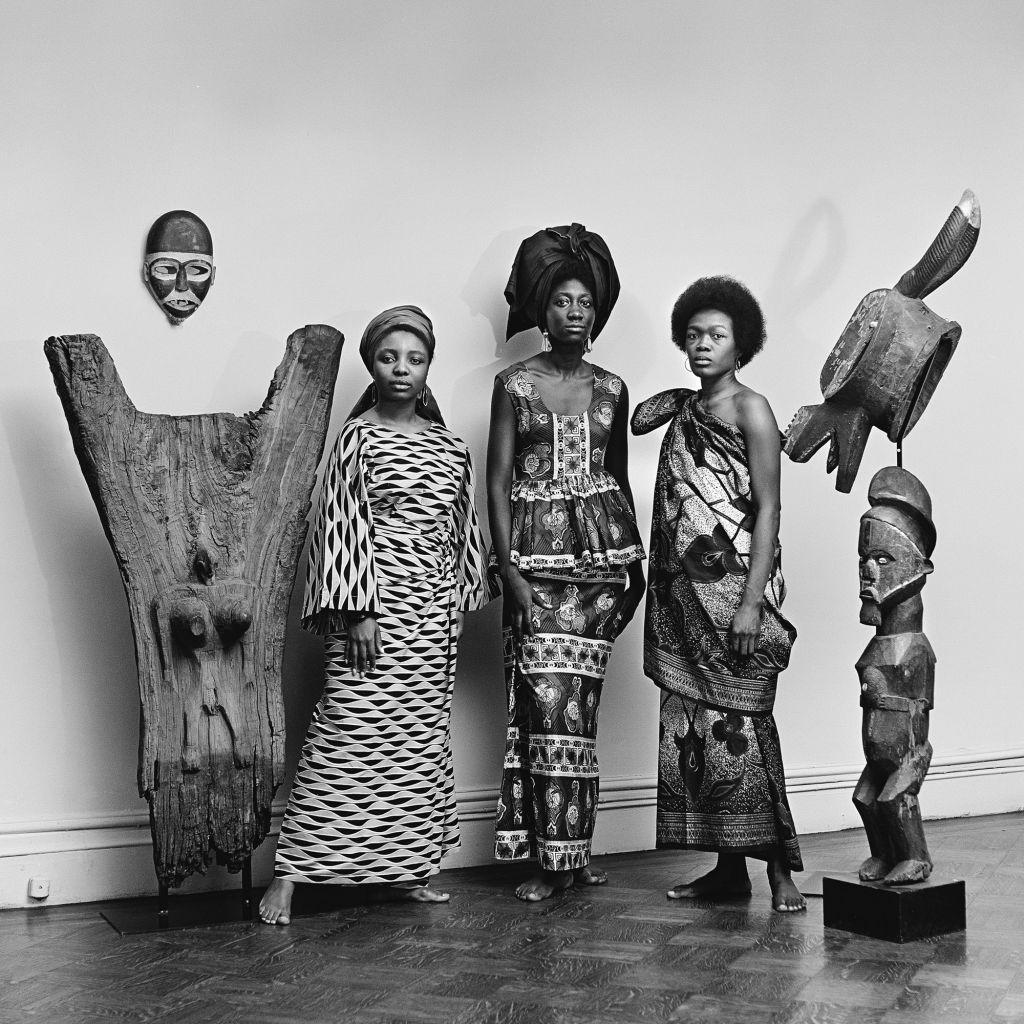 Kwame Brathwaite, Grandassa Models at the Merton Simpson Gallery, New York, ca. 1967; from Kwame Brathwaite: Black Is Beautiful (Aperture, 2019)
