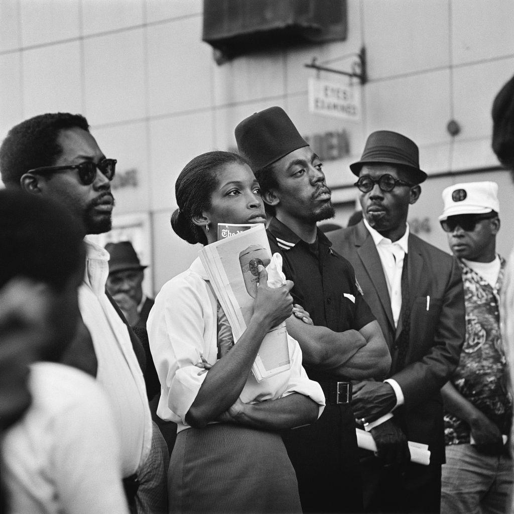 Kwame Brathwaite, Marcus Garvey Day Parade, Harlem, ca. 1967; from Kwame Brathwaite: Black Is Beautiful (Aperture, 2019