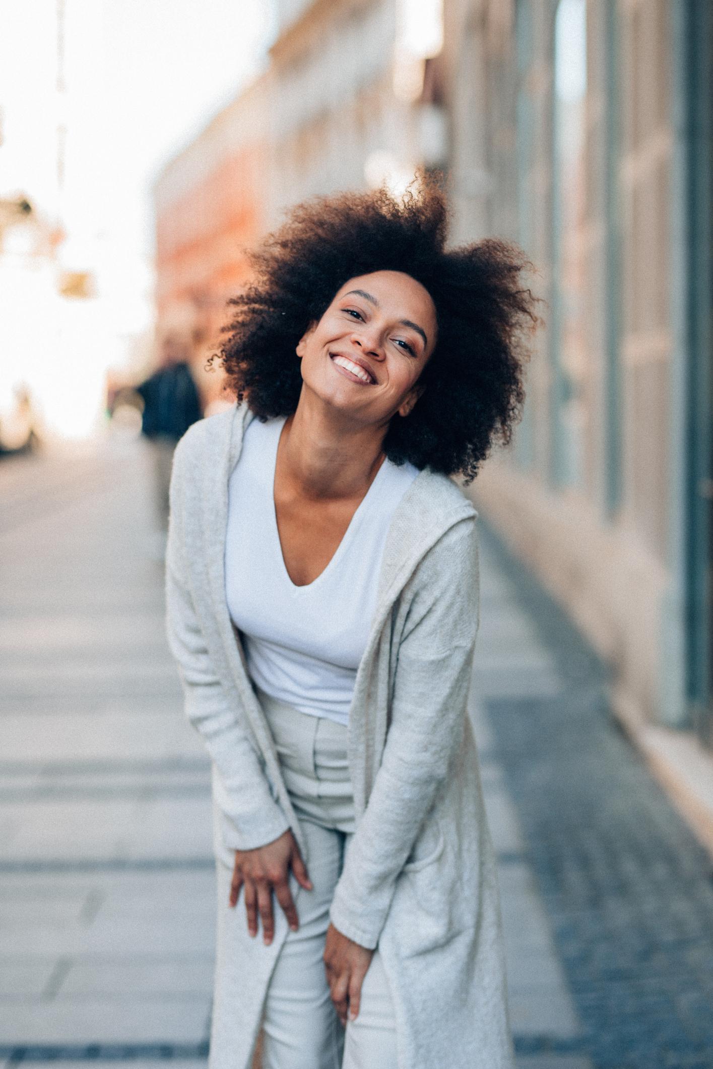 Young beautiful afro-american woman