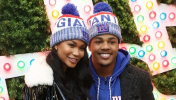 Sterling Shephard And Chanel Iman Kick Off Winter With New Era And Macy's