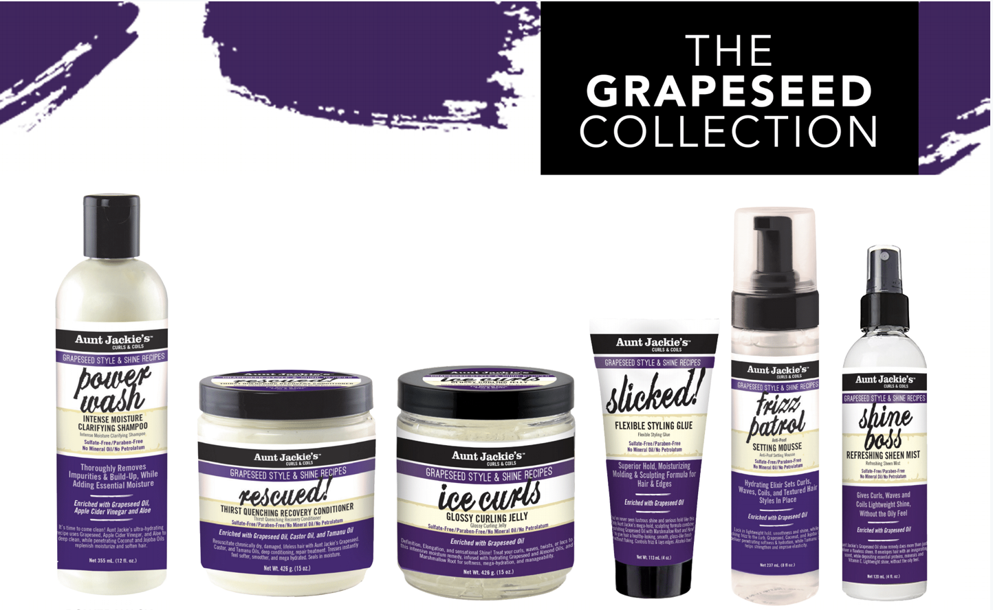 Aunt Jackie's Grapeseed Collection