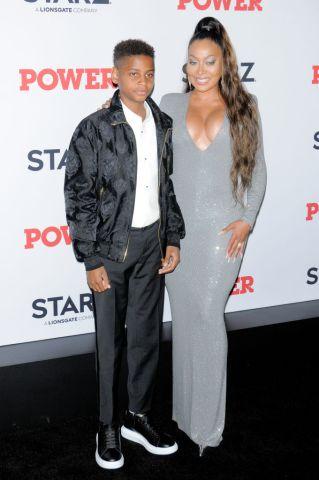 Kiyan Carmelo Anthony (L) and La La Anthony attend the Power...