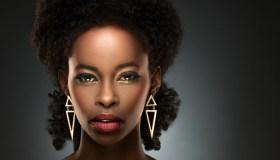 Portrait of beautiful black lady