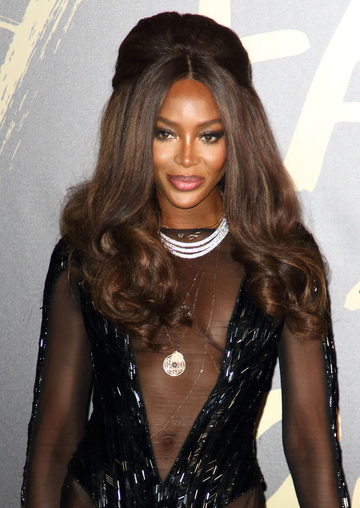 Naomi Campbell attends Fashion For Relief at the British...