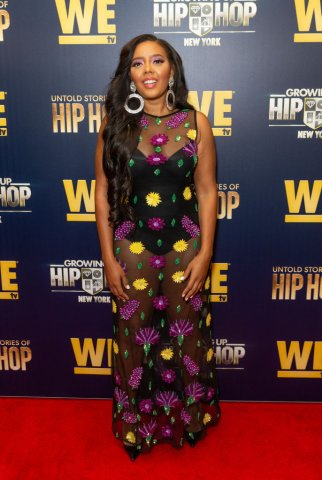 Angela Simmons attends WEtv celebration premieres of Growing...