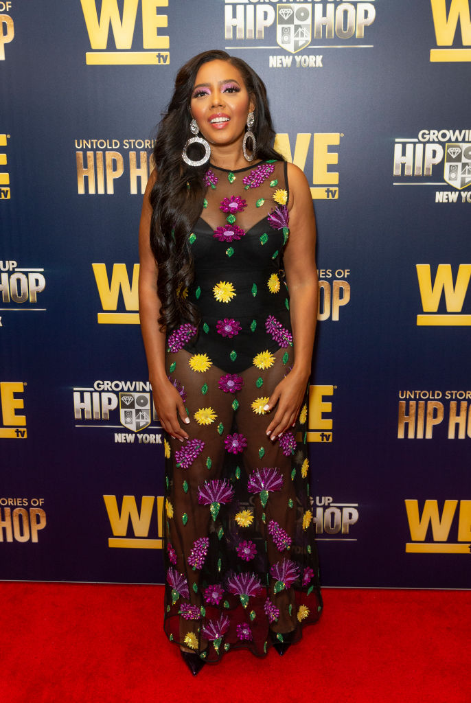 Angela Simmons at the WEtv premiere of Growing Up Hip Hop