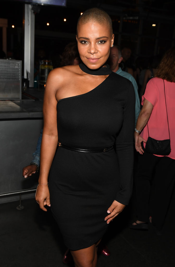 "SANAA LATHAN AT THE ""NAPPILY EVER AFTER"" WRAP PARTY, 2017"