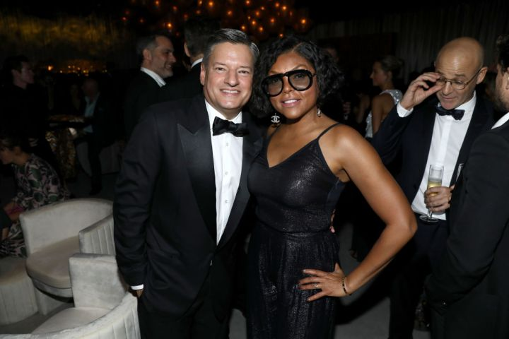 Ted Sarandos and Taraji P. Henson