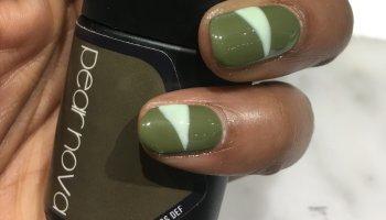 Danielle James Pear Nova Gel Nails