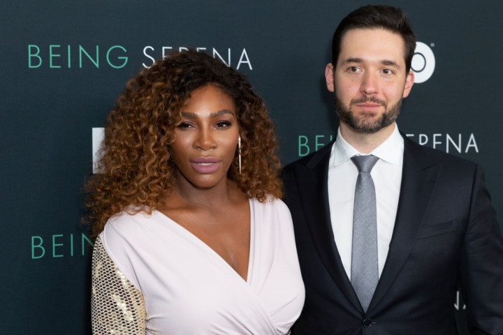 Serena Williams and Alexis Ohanian attend premiere HBO...