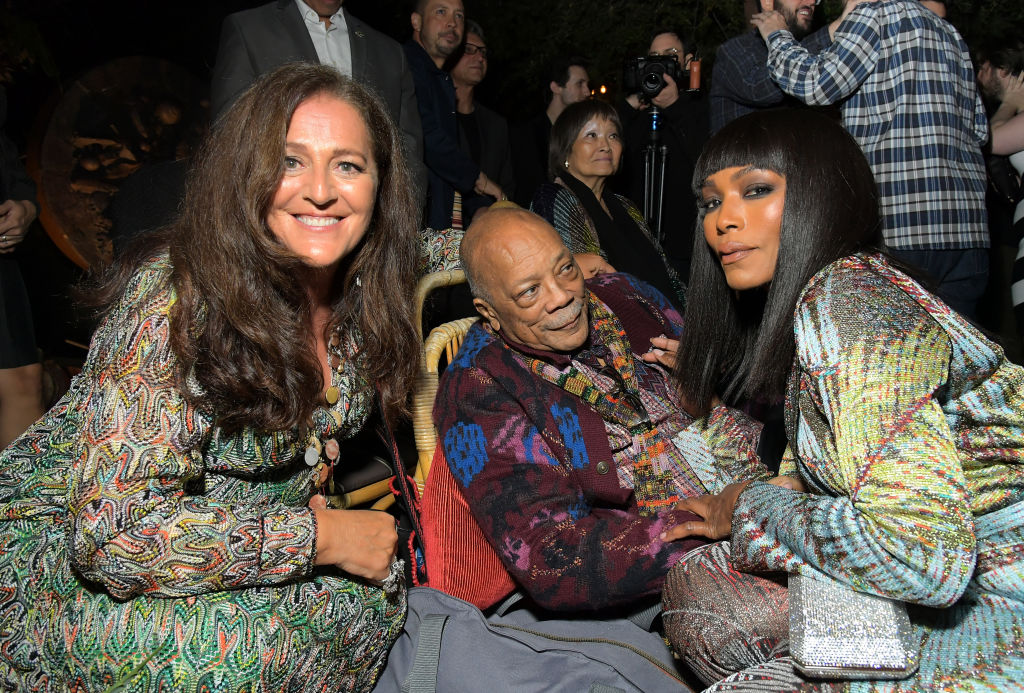 Quincy Jones, Angela Missoni, Luca Missoni And Richard Christiansen Celebrate The Release Of Missoni: The Great Italian Fashion