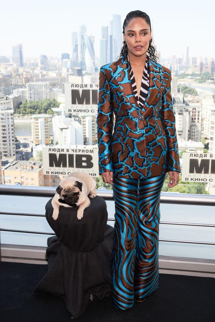 TESSA THOMPSON AT 2019 THE 'MEN IN BLACK INTERNATIONAL' PHOTOCALL