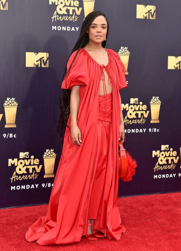 TESSA THOMPSON AT THE 2018 MTV MOVIE AND TV AWARDS