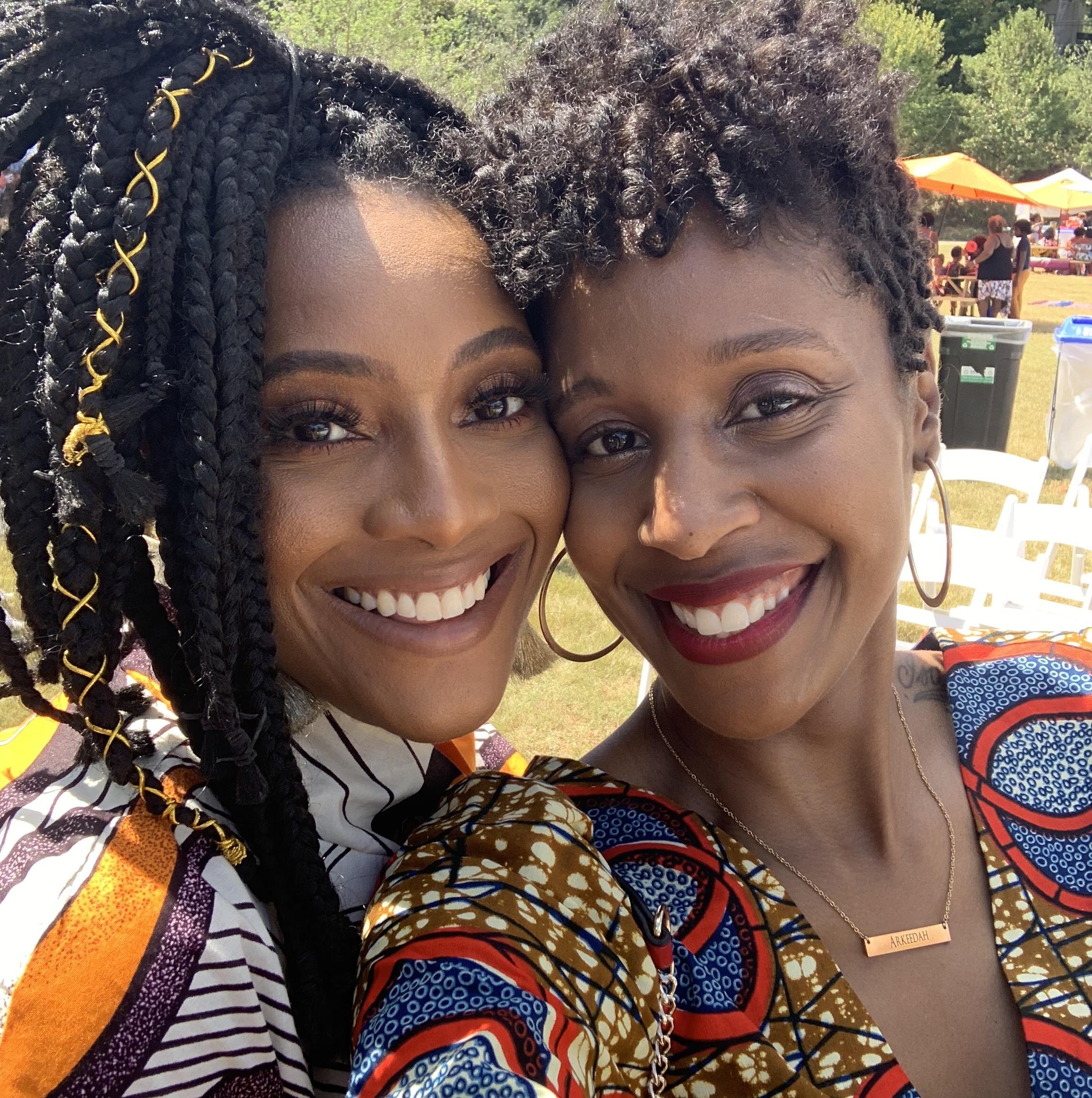 Danielle James and Arkeedah McCormick at CurlFest Atlanta