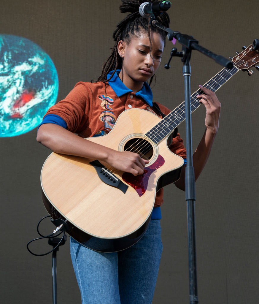 Willow Smith performs on stage during NYC Climate Strike...