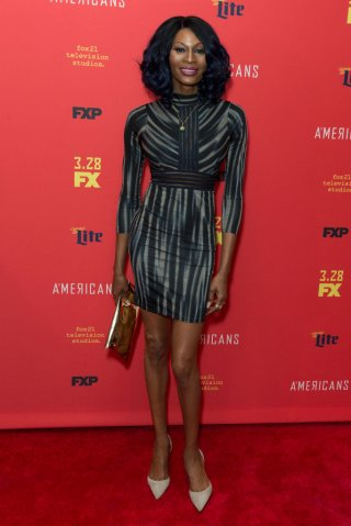 Dominique Jackson attends FX The Americans season 6 premiere...